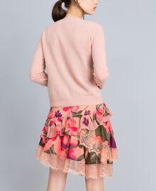 Jupe en mousseline avec imprimés floraux Imprimé Rose Tulipe «Tea Garden» Femme TA829A-03