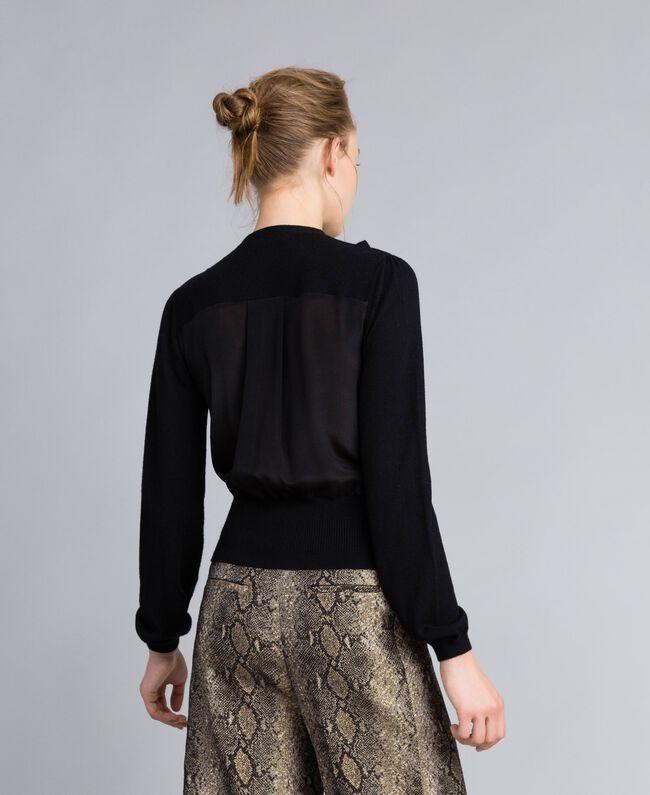 Pull en laine et cachemire Noir Femme PA83AN-03