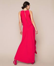 Long dress with frills Black Cherry Woman 201TP2434-02