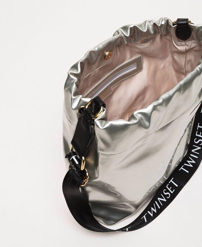 Сумка-мешок из искусственной кожи с эффектом винила Серый Титан женщина 201TA7177-04