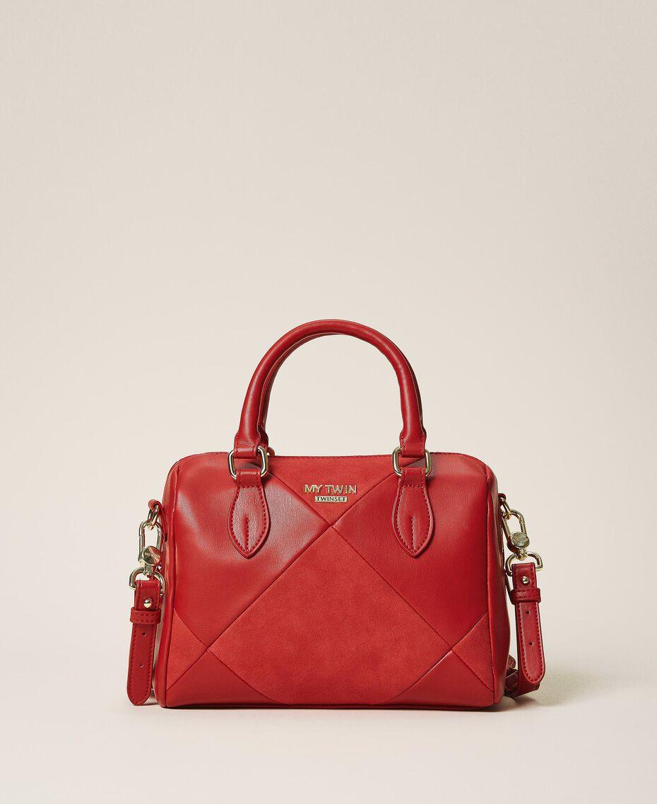Bauletto-Tasche aus Lederimitat Kirsch Rot Frau 202MA7022-01