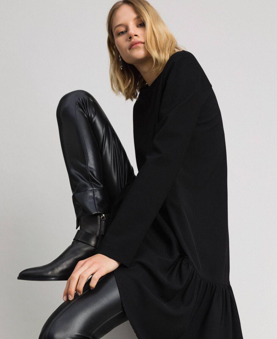 Robe avec volant asymétrique Noir Femme 192TP2640-0T
