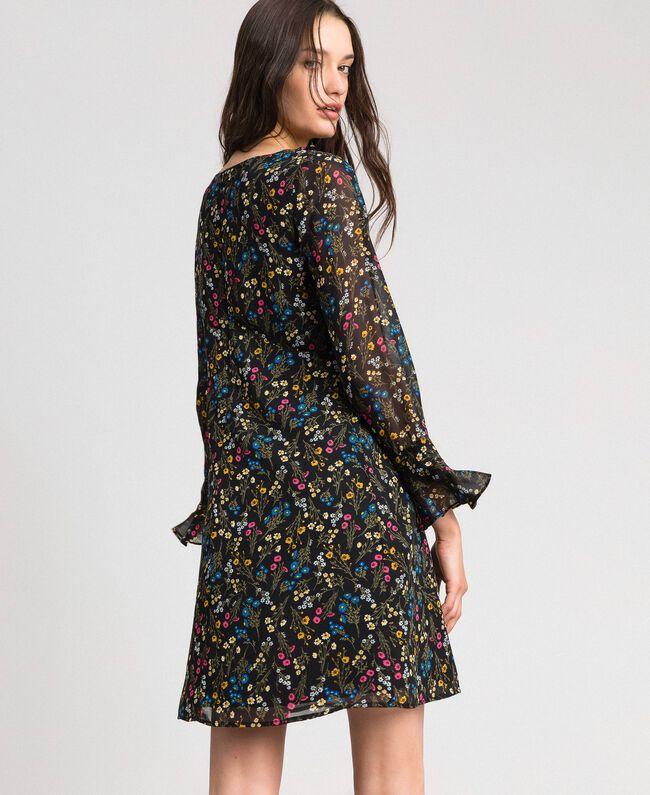 Robe avec imprimé floral Imprimé Petites Fleurs Noir Femme 192MP2228-03