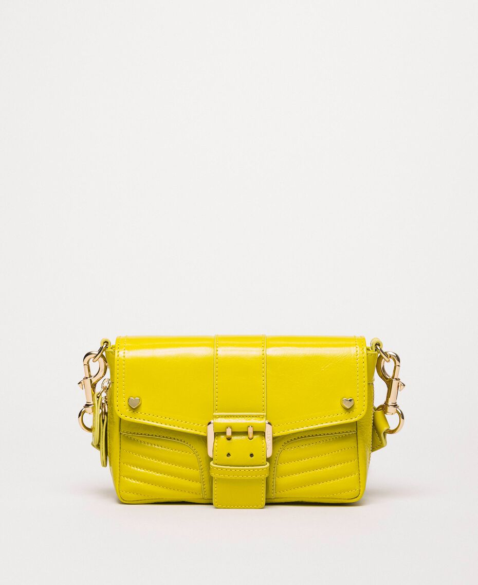 Small Rebel bag with logo shoulder strap Lime Yellow Woman 201TO823U-02