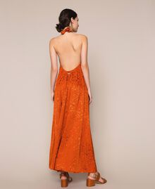 "Long jacquard dress with floral design ""Ace"" Orange Woman 201LB2HAA-05"
