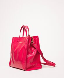 "Großer Shopper aus Leder mit Logo ""Jazz""-Rosa Frau 201TO8090-02"