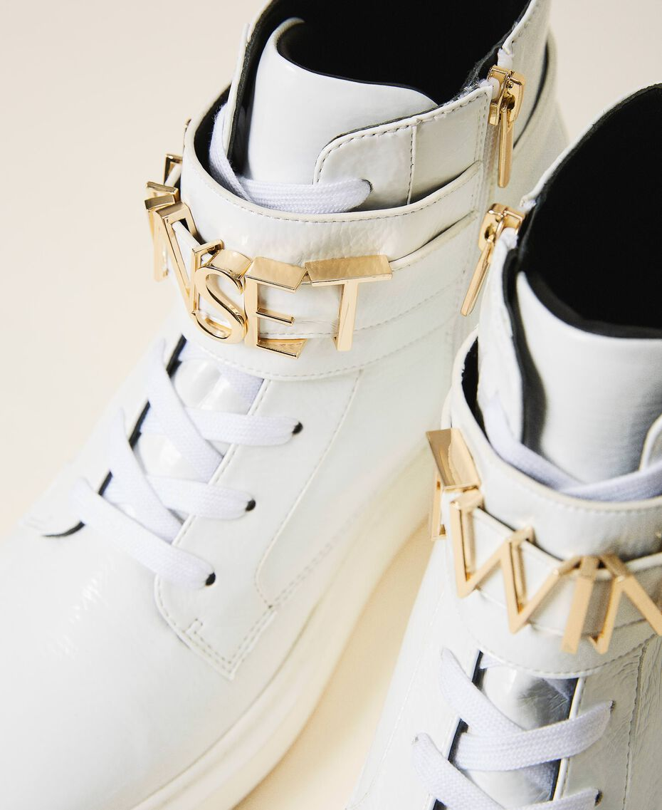 High top trainers with logo White Woman 202TCP030-02