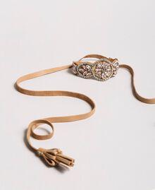 Ожерелье-ремешок со стразами Бежевый Нуга женщина 191TA431M-02