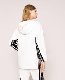Maxi sweatshirt with jacquard logo Ivory Woman 201TP2070-04