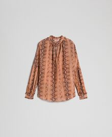 Animal print georgette blouse Canyon Pink Python Print Woman 192TT2272-0S