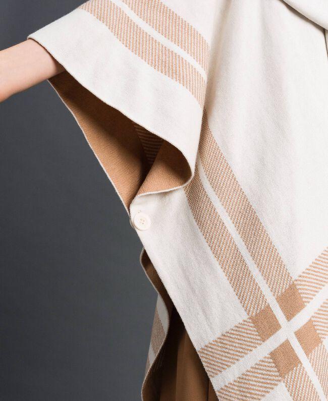 Reversible knit cape Cream / Nude Beige Woman 192LI3ZBB-04