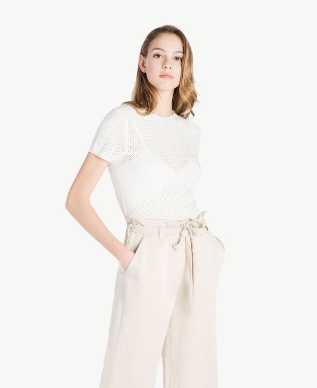 Pull viscose Ivoire Clair Femme TS832S-01