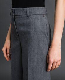 Technical wool wide leg trousers Dark Gray Mélange Woman 192TP2351-04