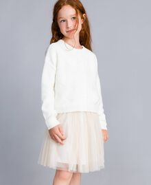 Jumper with terry stitch hearts Off White Child GA83DB-04