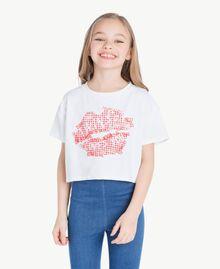 T-shirt Vichy Stampa Vichy/ Bocciolo Enfant GS82ZE-02