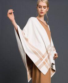 Cape réversible en maille Crème / Beige Nude Femme 192LI3ZBB-01