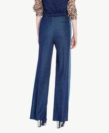 Lurex trousers Royal Blue Lurex Woman PS83ZE-03