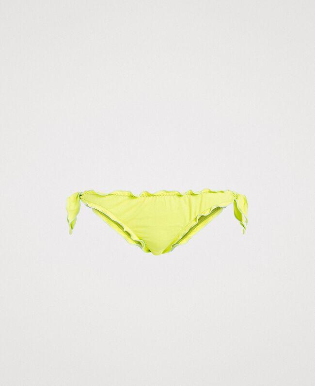 """Bikinitanga mit Schleifen und Rüschchen """"Lemon Juice"""" Gelb Frau 191LBMHQQ-01"""