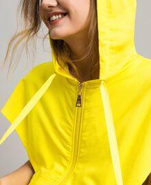 Sweatshirt with hood and zip Fluorescent Yellow Woman 191MT2342-04