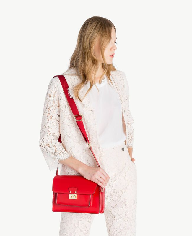 TWINSET Leather shoulder bag Ruby Woman AS8PE1-05