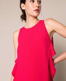 Long dress with frills Black Cherry Woman 201TP2434-05