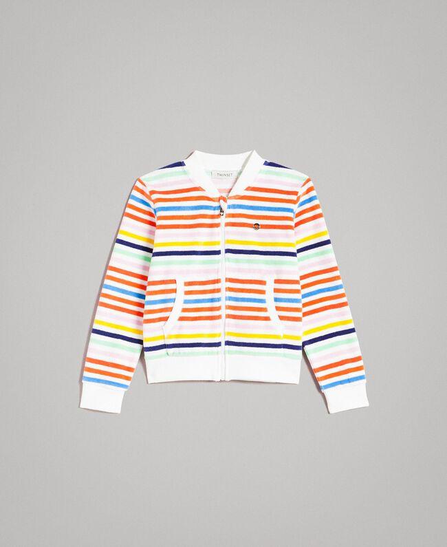 Sweat shirt à rayures multicolores Multicolore à Rayures Enfant 191GJ2223-01
