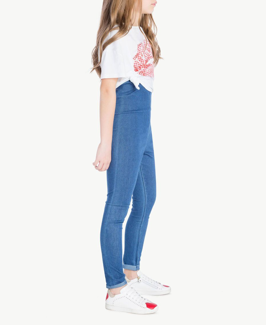 "Leggings jersey Blu ""Denim Medio"" Bambina GS82GR-03"