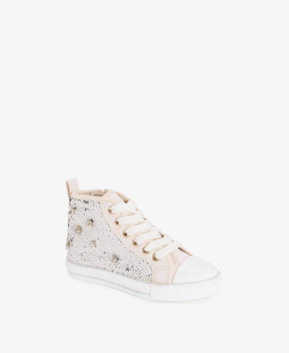 Sequin sneakers Pale Cream Child HS88GA-02