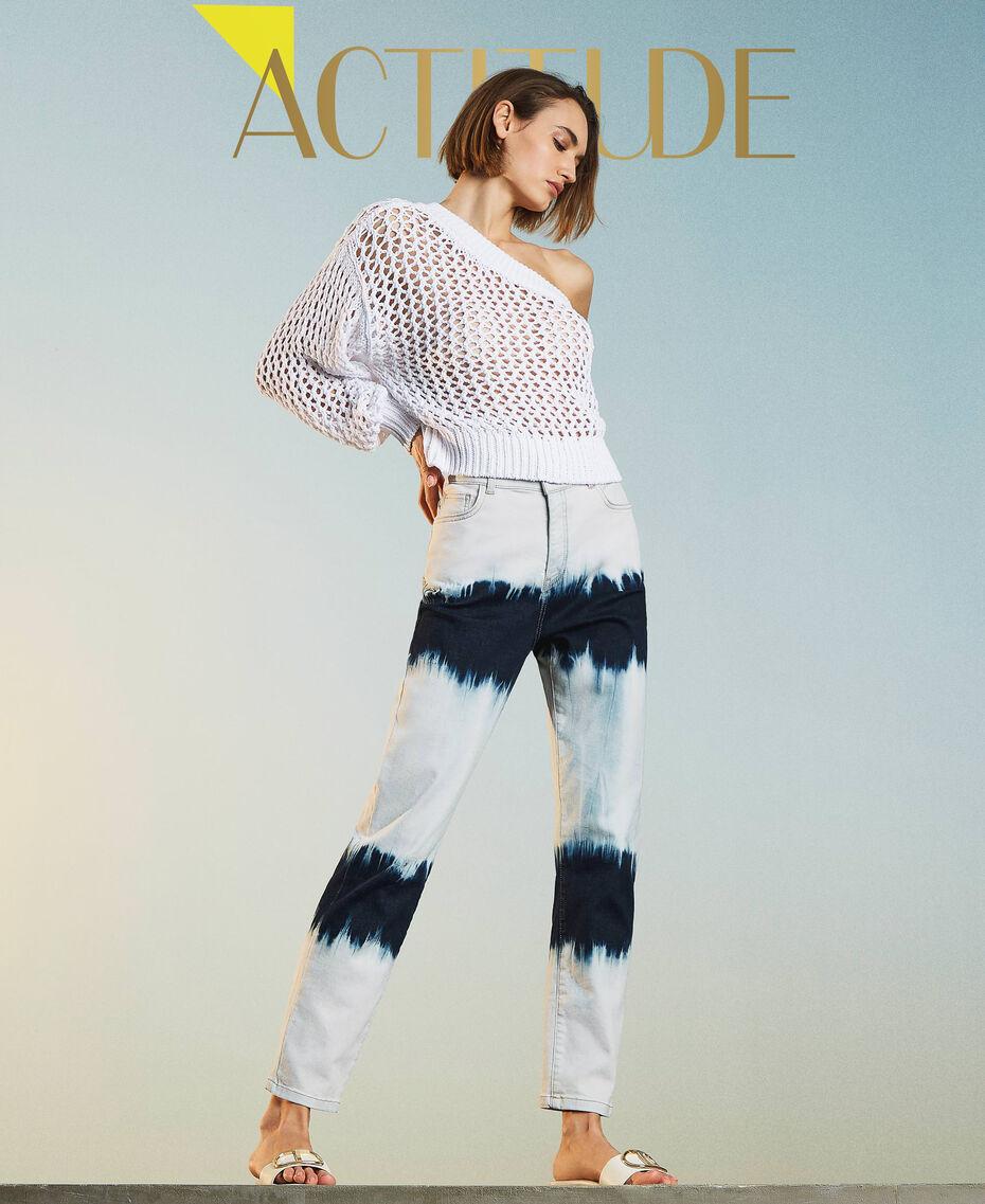 Slouchy-Jeans mit Tie-Dye Tie-Dye-Denim Frau 211MT211D-01