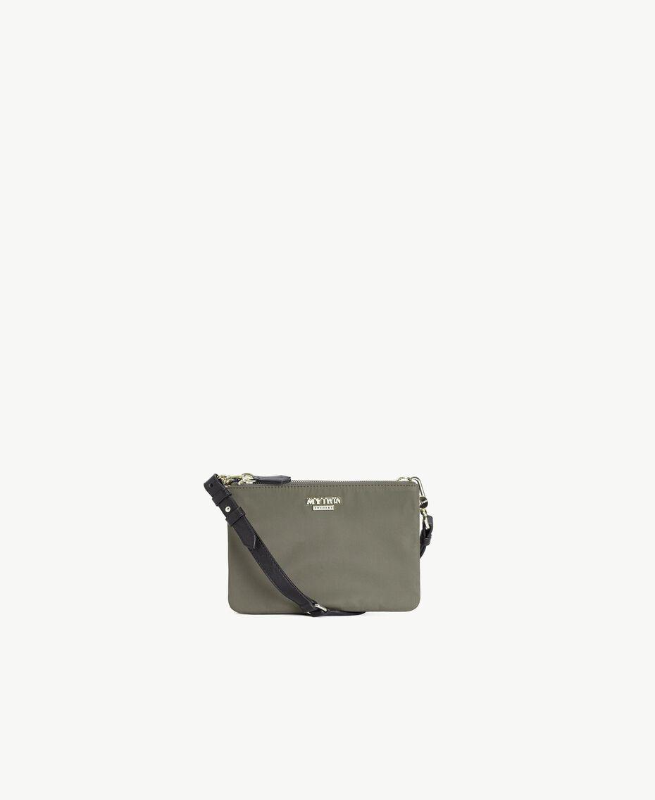 TWINSET Umhänge-Pochette Multicolor Armeegrün / Schwarz / Misty Pink Frau VS8PDB-01