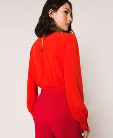 Silk blend blouse bodysuit White Snow Woman 201TP2504-03