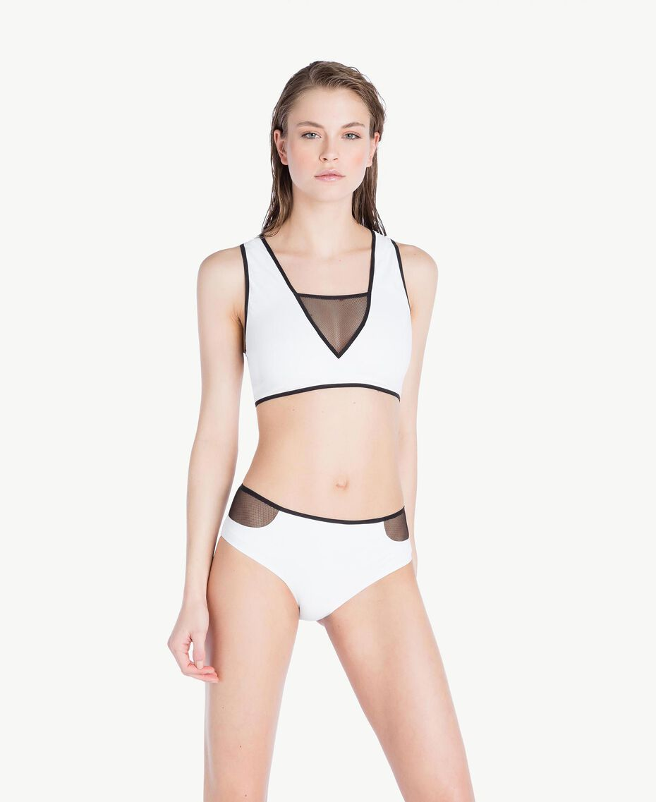 Tulle briefs Optical White / Black Woman LS83MM-02