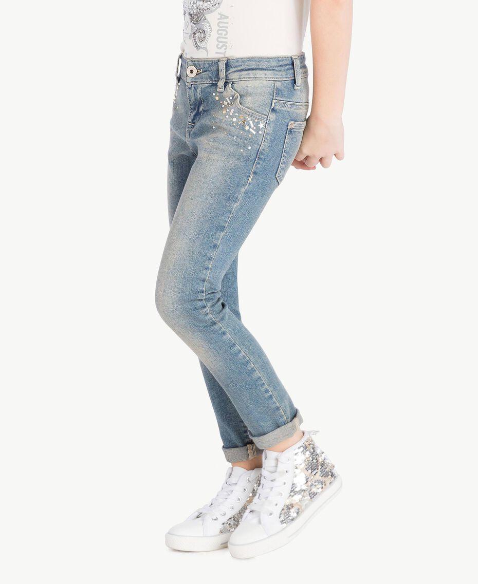 "Skinny jeans ""Mid Denim"" Blue Child GS82T3-03"