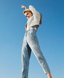 Jeans with bezel fringes Denim Woman 211TT2382-01