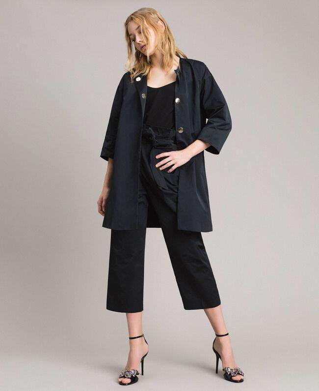 Manteau cache-poussière en taffetas Noir Femme 191TP2655-0T