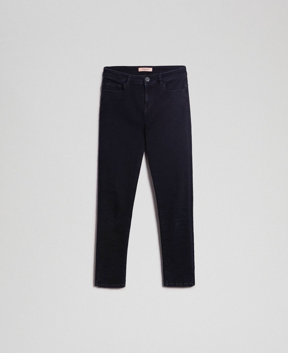 Five-pocket skinny jeans Black Woman 192TP2430-0S