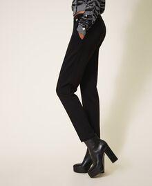 Pantalón en tejido scuba Negro Mujer 202TT2T25-02