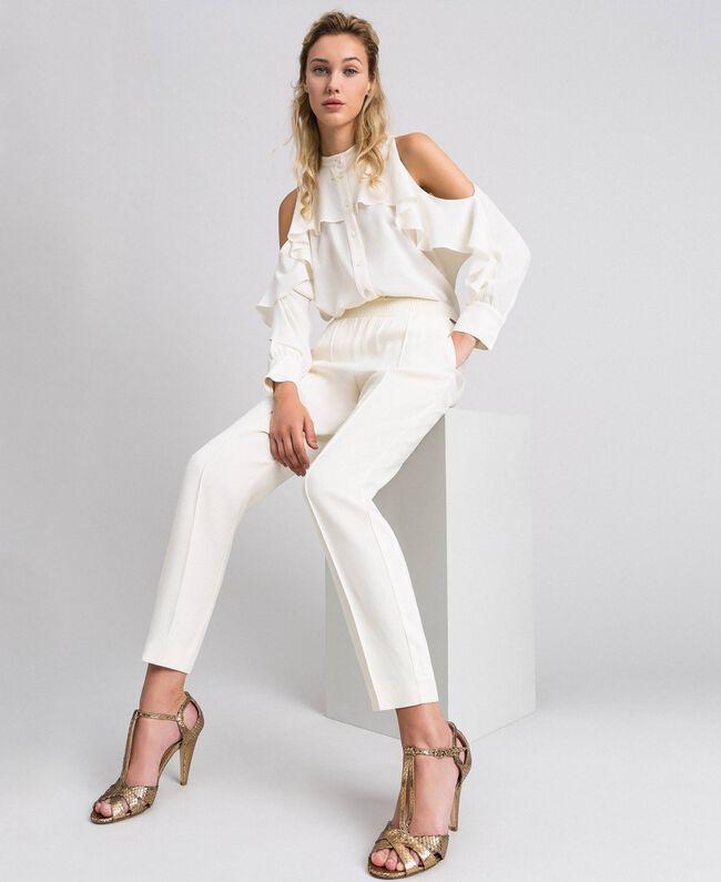 Pantalon en cady Blanc Neige Femme 192TT2292-01