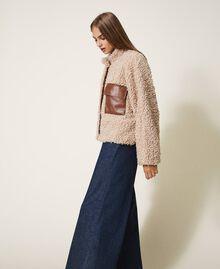 Короткое пальто из искусственной овчины Розовый Cloud Pink женщина 202LI2BAA-03