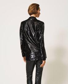 Full sequin jacket Black Woman 202TP2110-05