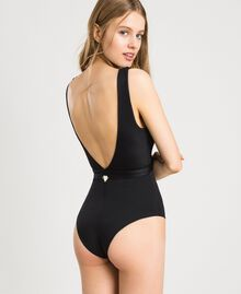 One-piece swimsuit with loop Black Woman 191LBM2YY-03