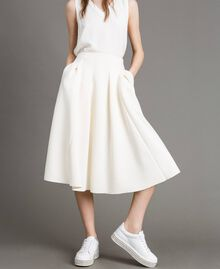 "Full scuba skirt ""Silk"" White Woman 191TP2065-02"