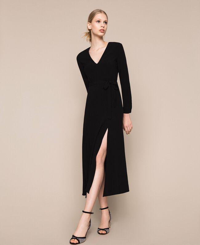 Длинное платье с разрезами Вишня женщина 201TP2433-01