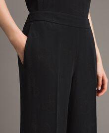 Jacquard butterfly trousers Black Woman 191TT2140-04