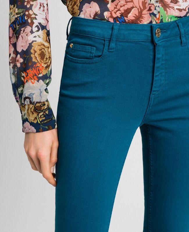 """Pantaloni skinny con cinque tasche Blu """"Lake"""" Donna 192MP2412-04"""