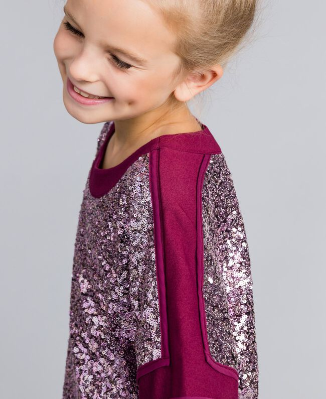 Mini-robe en full paillettes Violet Raisin Doux Enfant GA82PC-04