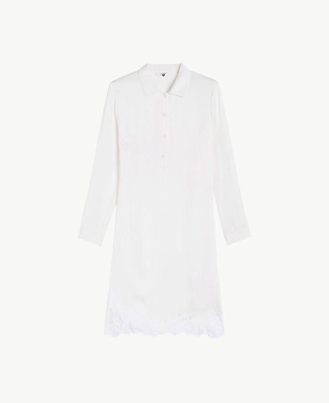 Satin nightdress Ivory Woman LS8CLL-01