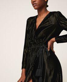 Long velvet dress Black Woman 202TT2160-04