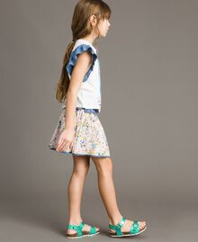 Gonna-top in mussola con stampa Stampa Stelline Bambina 191GJ2532-02