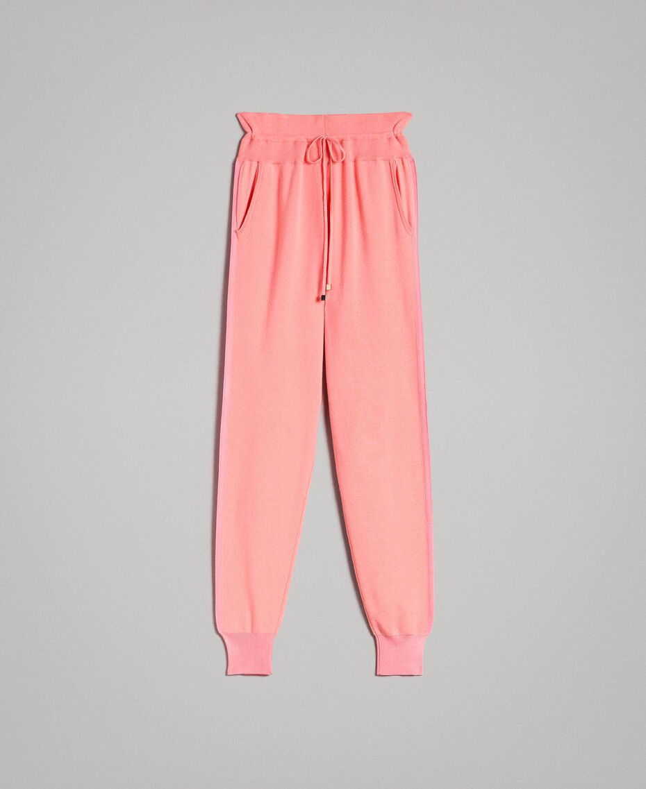 """Cashmere blend jogging trousers """"Wild Rose"""" Pink Woman 191TP3067-0S"""